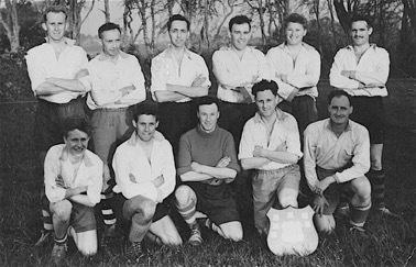 This week's photograph is of Falmouth Docks' staff football team in 1958