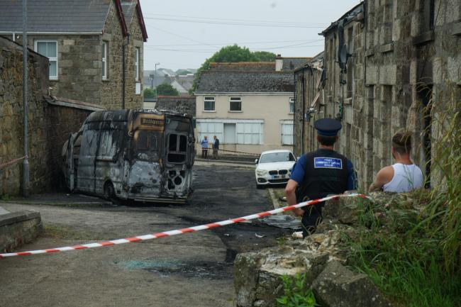 Police have confirmed the fires were arson