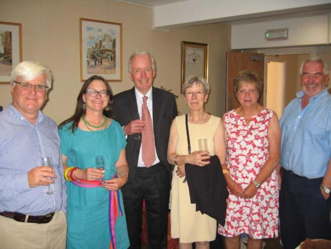 Cdr Nicholas Trefusis and Mrs Trefusis (centre) with trustees of Earle's Retreat