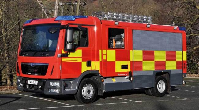 Man suffers burns in Falmouth fire