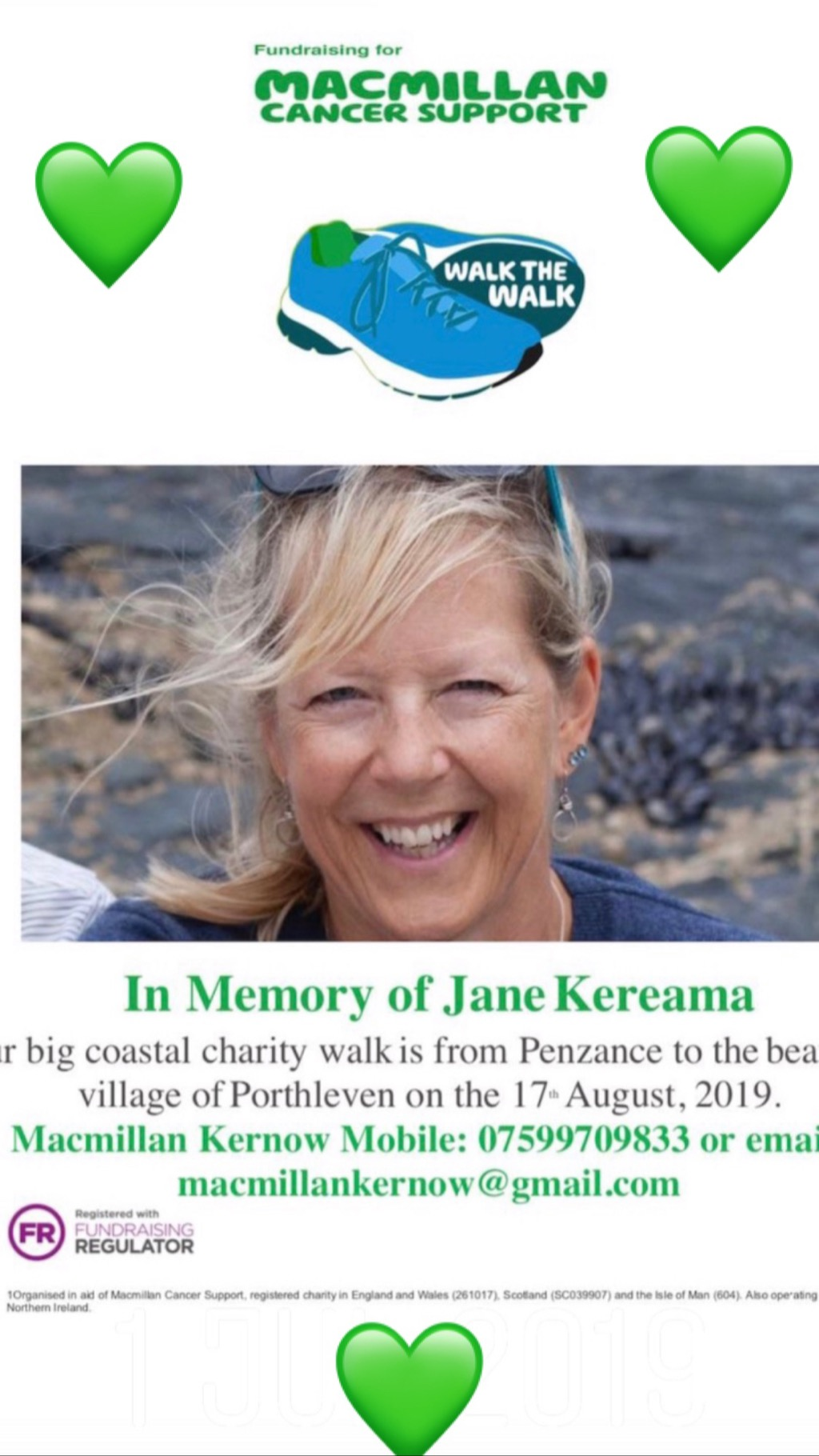 Charity Walk in Memory of Jane Kereama