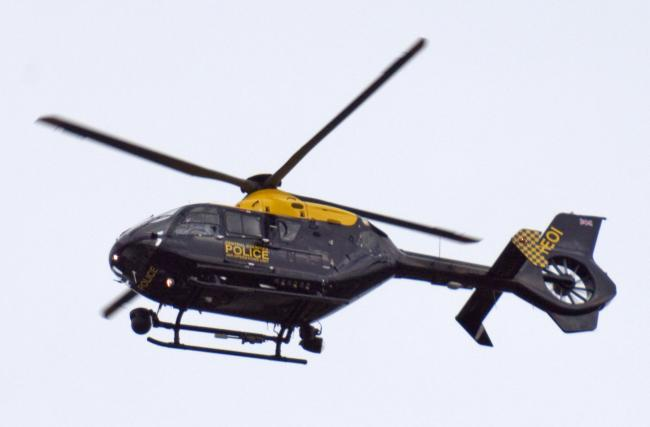 File picture of a police helicopter taken by Tony Hisgett