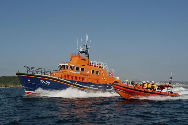 Both Falmouth's inshore and all-weather lifeboat were scrambled. Stock photo: Falmouth RNLI