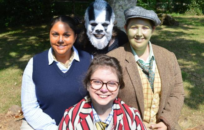 The lead cast of The Wind in the Willows