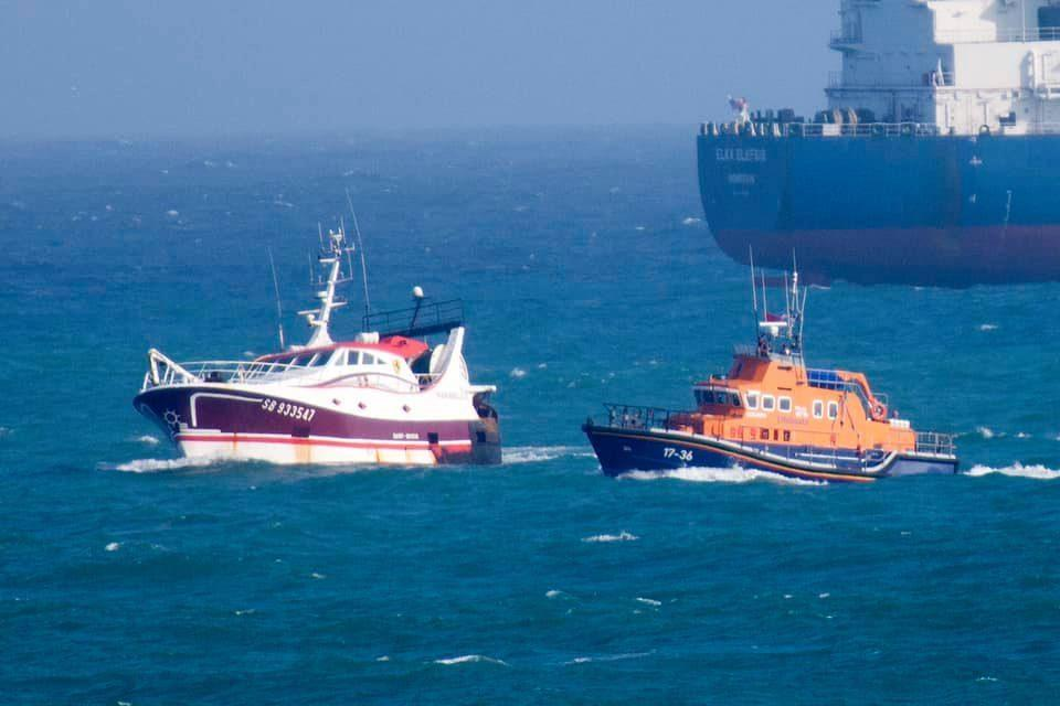 Stricken French trawler was 15 nautical miles from St Ives