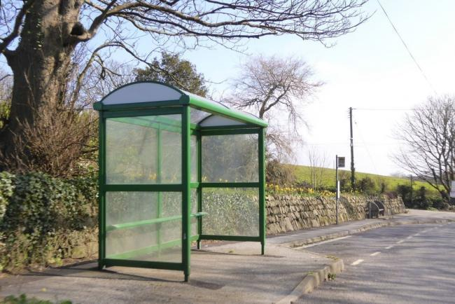 Bus shelter on the A394 south-east of Breage, picture by David Smith