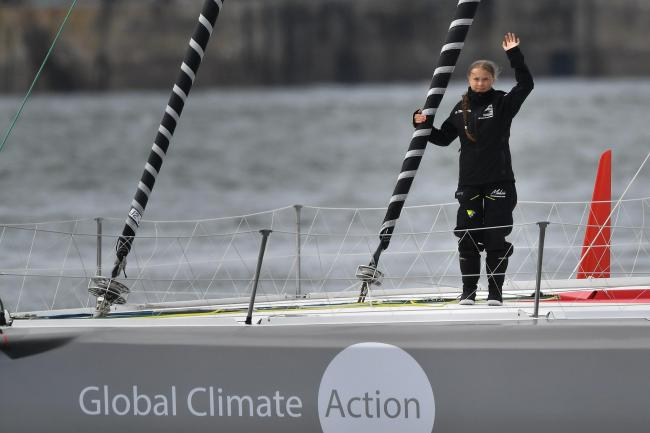 Greta Thunberg sails to the US