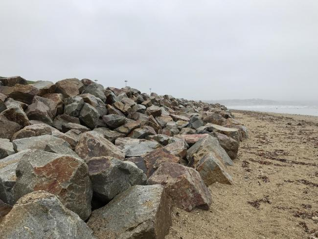 The 12,500 tonnes of rock now protecting Long Rock