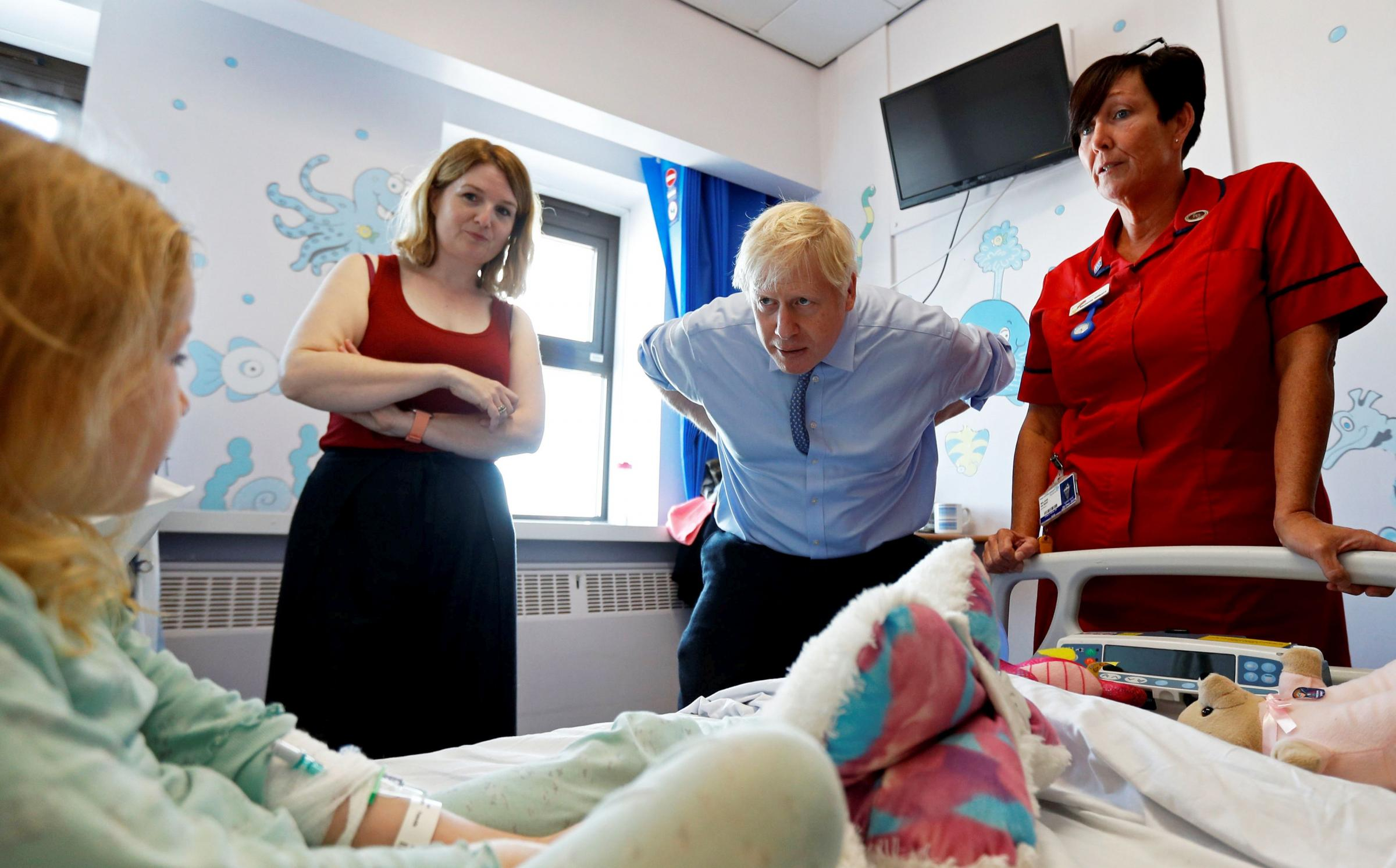 Boris Johnson in Cornwall over measles campaign for MMR jab