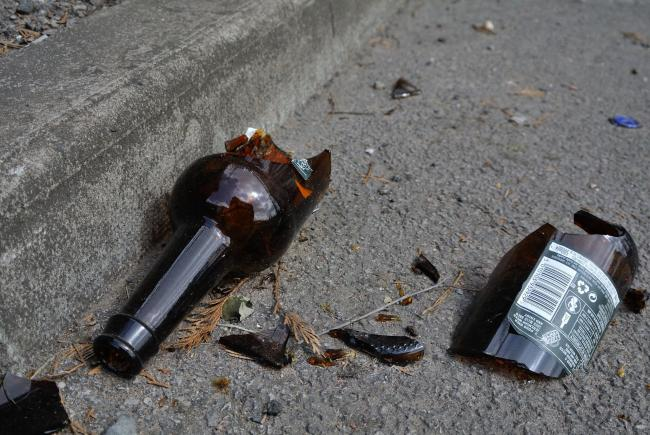 A bottle was smashed over the teenager's head. Stock photo: Josie Martin Mendoza
