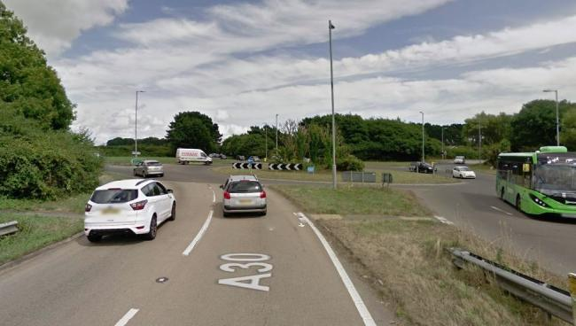 The A30 at Longrock. Picture: Google