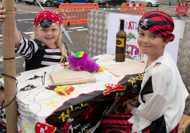 Millie and Zach came as pirates to last year's carnival