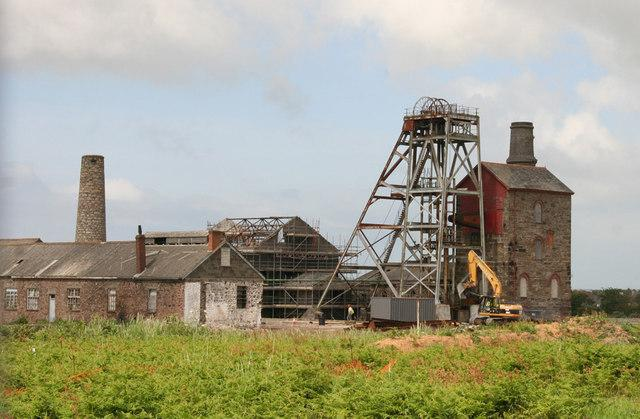 One of the shafts at South Crofty - plans to build 99 homes on another part of the South Crofty site have been submitted.