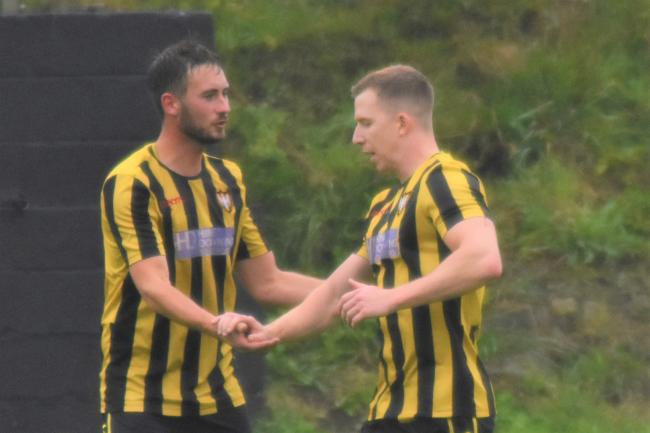 Jack Bowyer (right) scored his second hat-trick in four games on Saturday