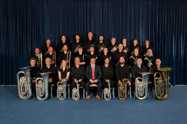 Redruth Town Band, who finished second in the Brass Band National Finals in Cheltenham