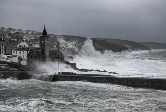 Warnings remain in place for Monday's high tide. File photo