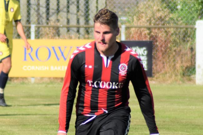 Dan Lord scored Penryn Athletic's winning goal in their Cornwall Senior Cup second-round tie with Bude Town