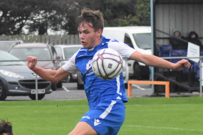 Alex Wharton scored a hat-trick for Helston's under-18s in their cup win at Brislington on Wednesday and scored one for the first team against Launceston on Saturday