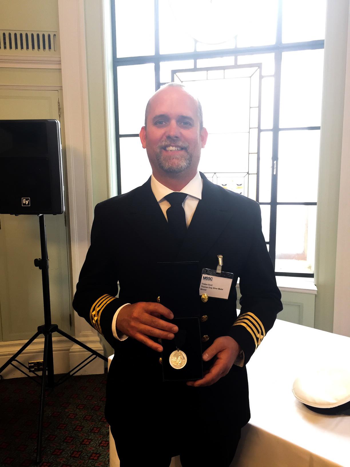Tristan Gurd is awarded Thomas Gray Memorial Trust Silver Medal