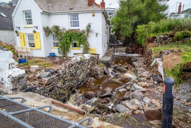 The devastating aftermath of flooding in Coverack, back in 2017
