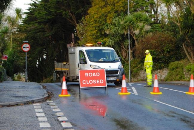 The A39 Dracaena Avenue in Falmouth is closed this afternoon