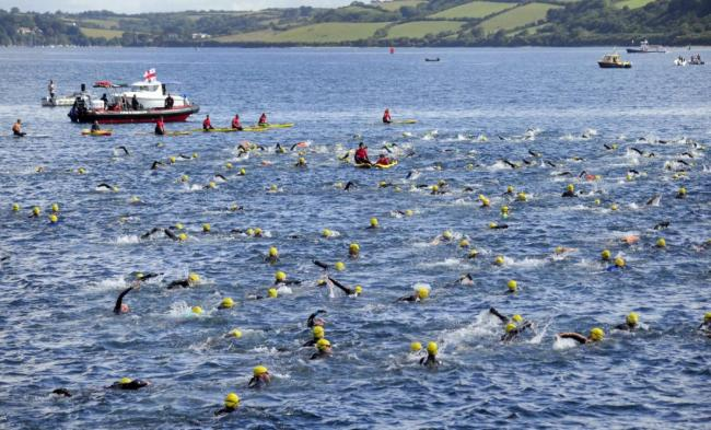 This year's Castle to Castle Swim. Picture by Colin Higgs