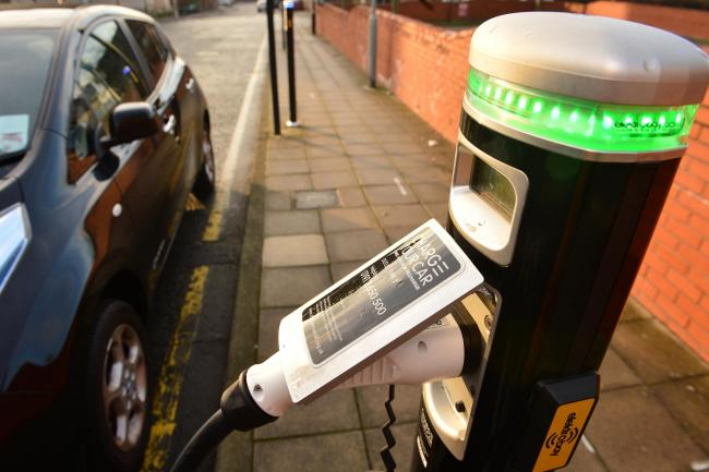 An electric car charger. Picture: Owen Humphreys/PA