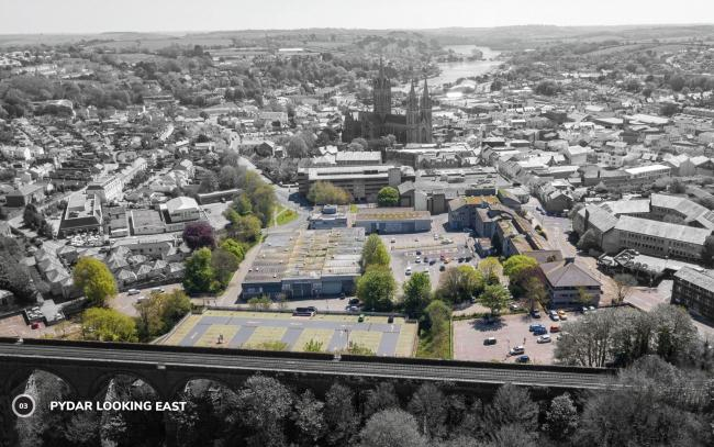 The area in Pydar Street, Truro that will be developed