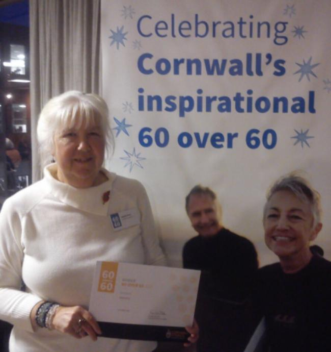 Sandra Bray, who has received a 60 at 60 award from Cornwall Council