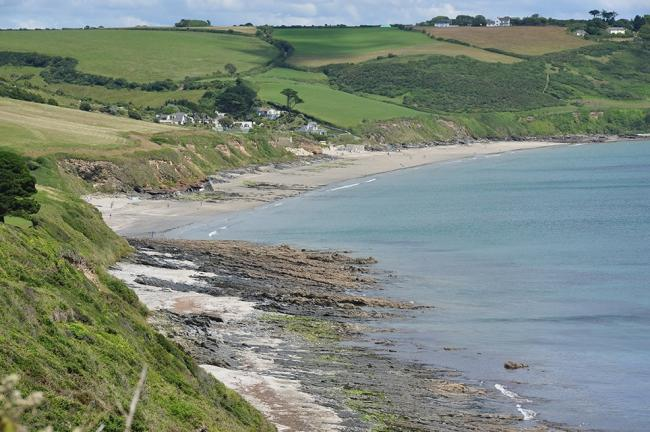 Pendower and Carne beaches, on the Roseland Peninsula