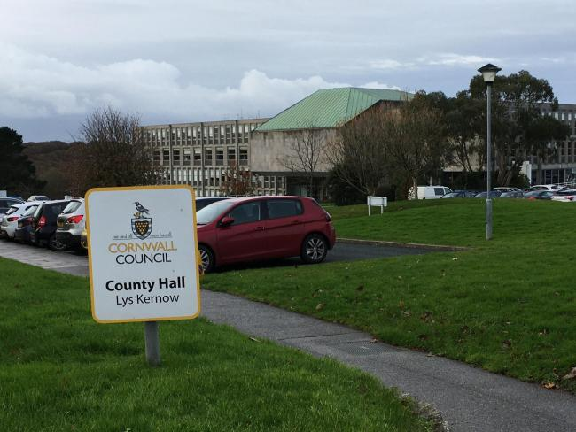 Cornwall Council, County Hall, Truro (Image: Richard Whitehouse/LDRS)