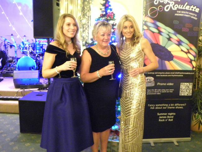 Holly Ball 2018: Emma Thomas, Lynda Thomas and Carly Kendall