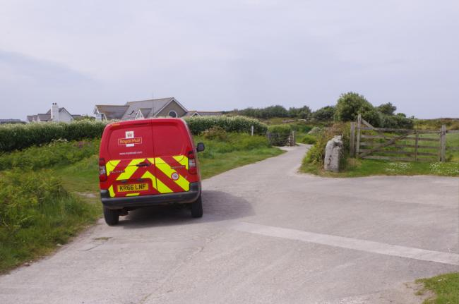 A Royal Mail van on the Isles of Scilly. Picture: Stephen McKay