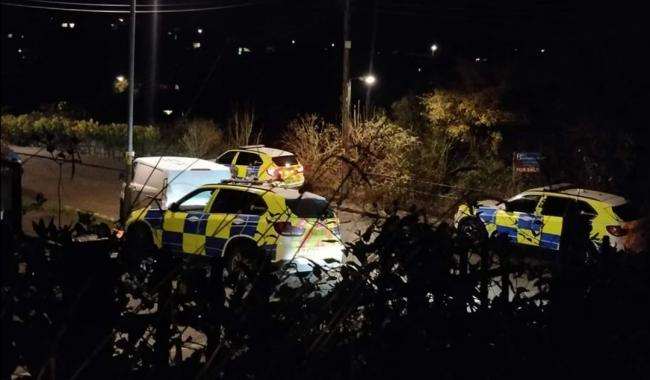 Police in the Treliever Road area of Penryn this evening. Photo: Rachel Jeanne Monique