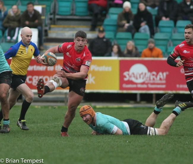 Dan Frost scored one of the Cornish Pirates' two tries in their defeat to Nottingham. Pic: Brian Tempest