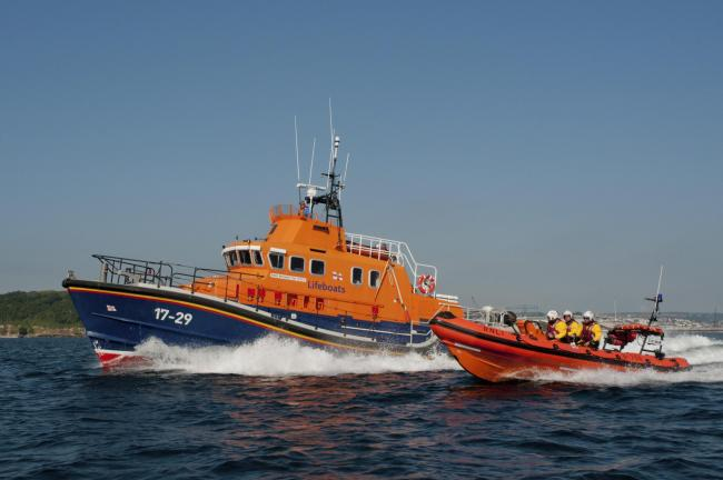 Falmouth lifeboats. Picture by Simon Culliford
