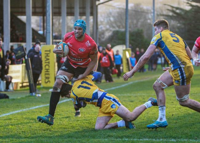 Cornish Pirates lock Cian Romaine in action during his side's 54-5 win over Yorkshire Carnegie on Sunday. Pic: Brian Tempest.