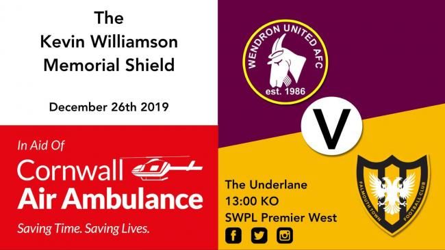The inaugural Kevin Williamson Memorial Shield game will be played at Wendron on Boxing Day
