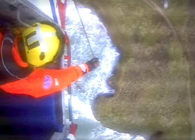 Coastguards were called out to rescue a man from a cliff at Gwithian Beach on Christmas Day