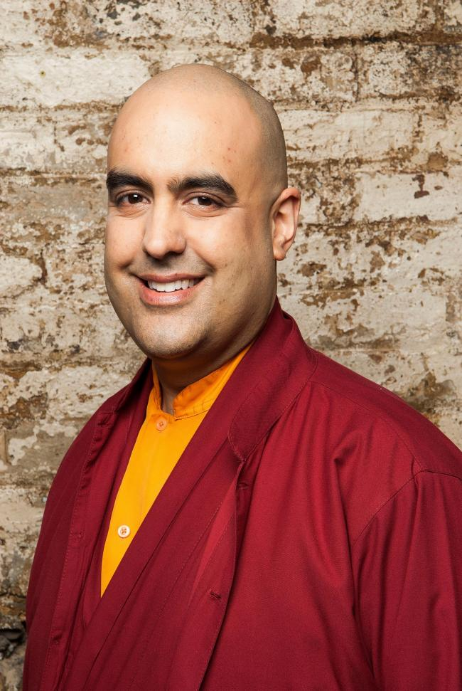 Gelong Thubten, who will host an evening at The Poly