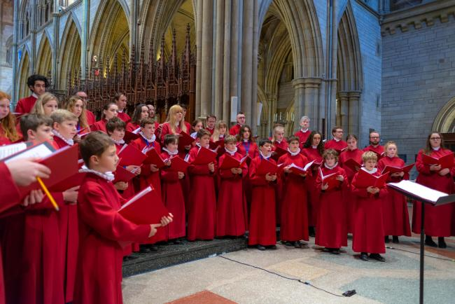 Truro Cathedral Choir. Picture by Claire Wilson