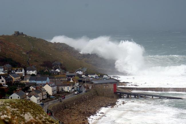 Stock picture of huge seas battering the coast at Sennen. Picture by Phil Male. Flickr