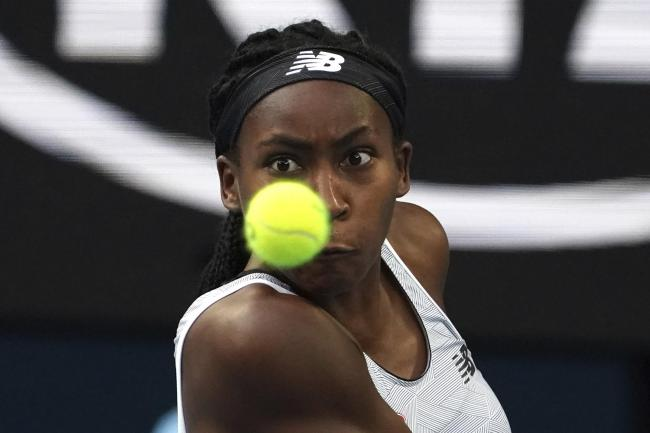 Coco Gauff, pictured, beat Naomi Osaka