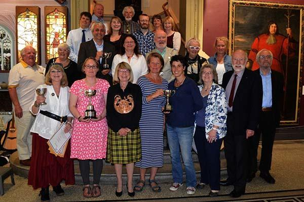 Authors and publishers of nominated books with Grand Bard Elizabeth Carne (Melennek) at the awards evening last year