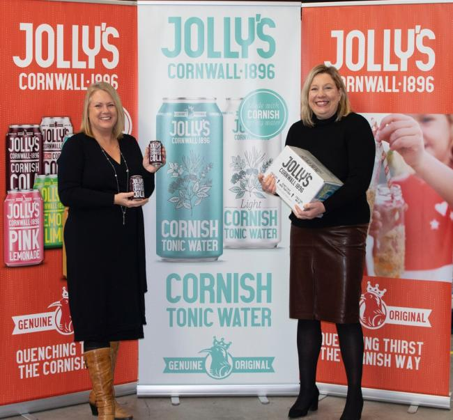 Jo Downie, of Wolf Rock Marketing and Cheryl Ingram, of Jolly's Drinks