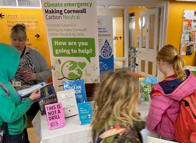 Climate change books on show at Penzance library