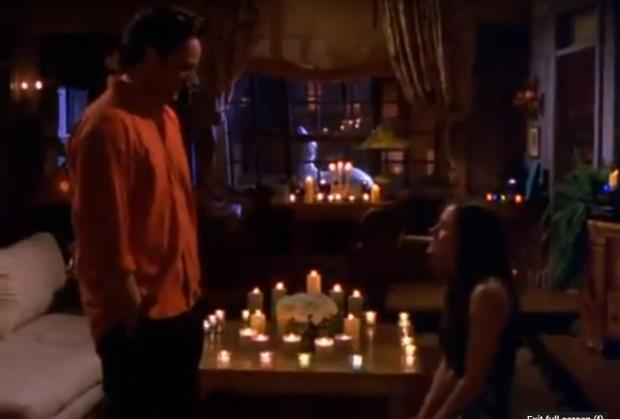 Falmouth Packet: Monica proposes to Chandler in Friends. Credit: Youtube