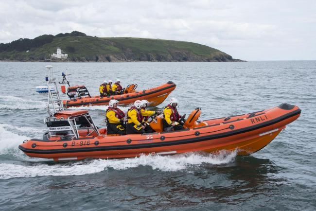 Stock picture of Falmouth's inshore lifeboat