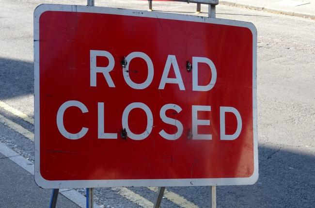 The road has been closed between Truro and Falmouth