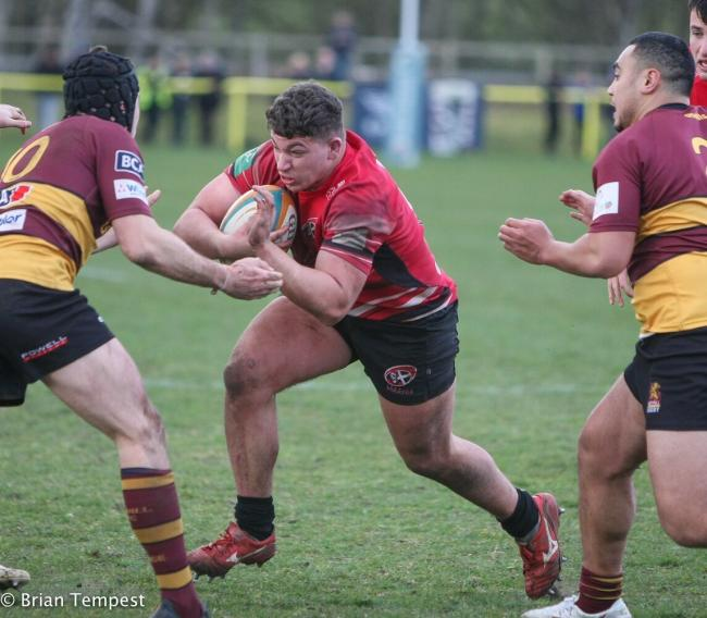 Dan Frost scored two tries in the match against Ampthill. Picture: Brian Tempest